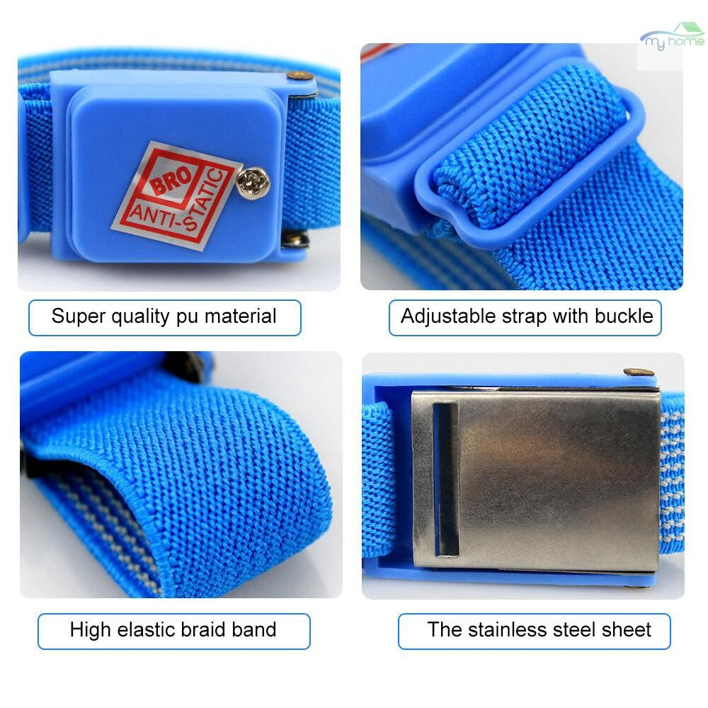 Protective Clothing & Equipment - WIRELESS Anti-Static Wrist Strap Band ESD Discharge AntiStatic Wrist Belt, Blue - Home Improvement