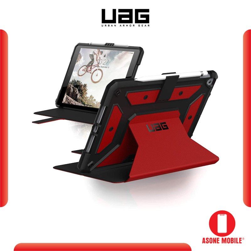 Original UAG iPad 10.2 inch 2019/2020 Metropolis Rugged Heavy Duty Protective Cover Multi-Angle Viewing Folio Stand with Pencil Holder