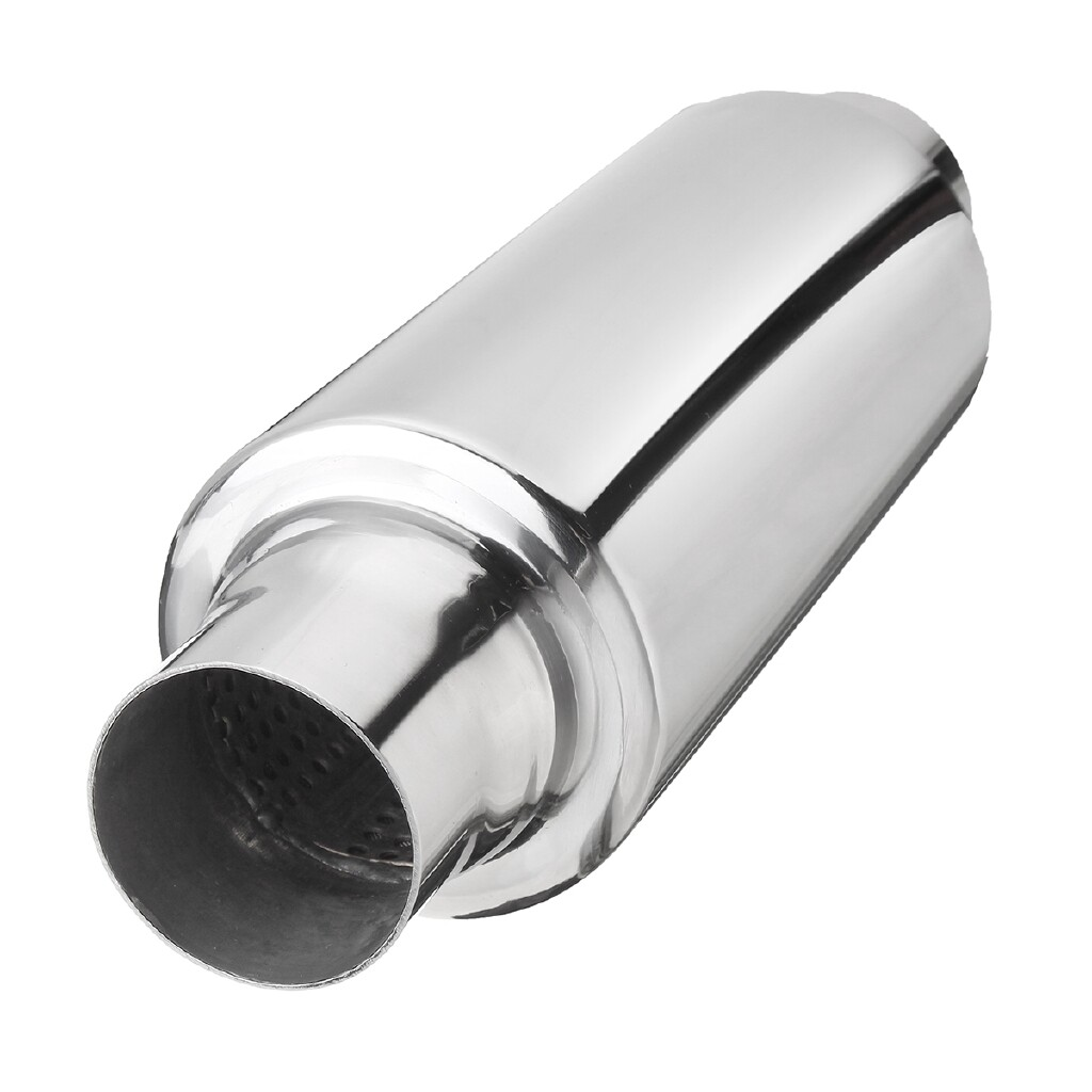 Moto Accessories - 2'' Inlet Outlet 12 Universal Exhaust Turbine Muffler Resonator Stainless Steel - Motorcycles, Parts