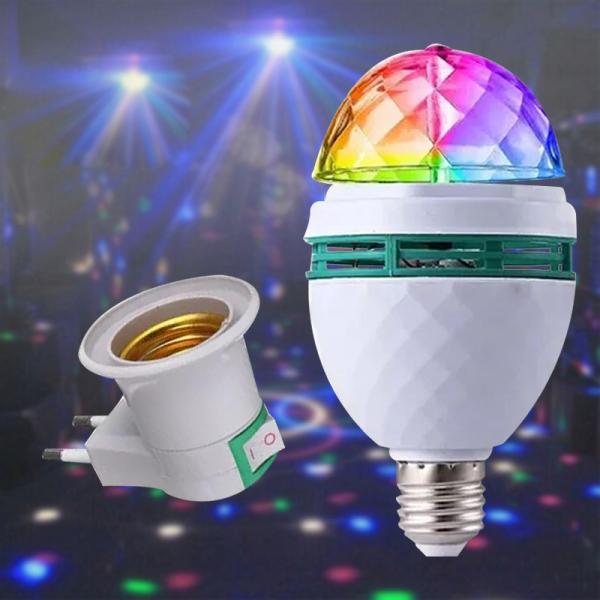 【Trang Trí】bóng Đèn LED Pha Lê Vũ Trường Mini Cắm Đèn LED Bóng Ma Thuật Pha Lê Tiệc Tiện Dụng Đèn RGB Trang Trí