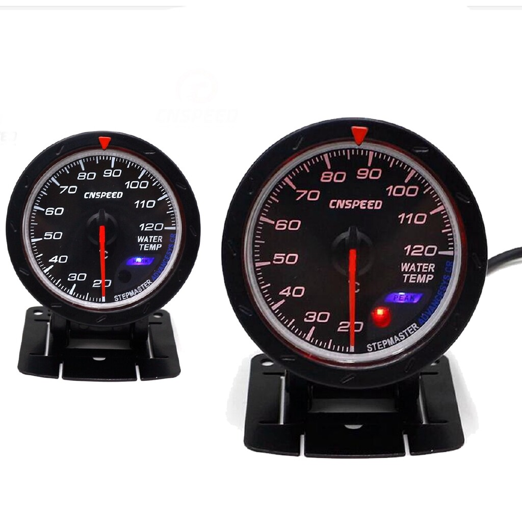 Moto Accessories - 2.5'' 60mm White+Red LED Stepper Motor Water Temp Temperature Gauge Meter Sensor - Motorcycles, Parts