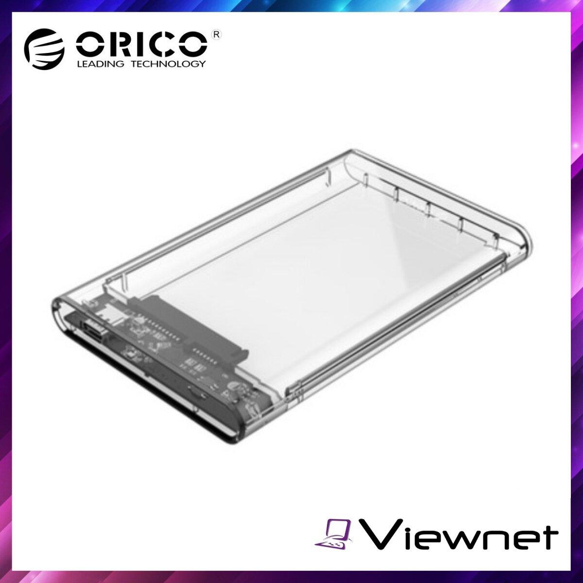 Orico 2.5  USB3.1 Type-C Gen2 Hard Drive Enclosure (2139C3-G2-CR). Transparent, 10Gbps High-speed Chip