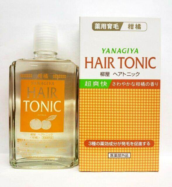 Yanagiya Hair Medicated Hair Growth Tonic (Citrus) 240ml - Original from Japan (READY STOCK)