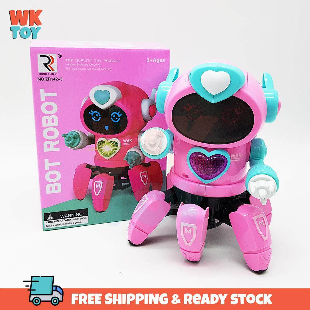 WK Robot BOT Pioneer Dancing Octopus LED Lights and Music Figure