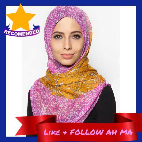 Best Selling QASEH SHAWL LABUH VISCOSE LIGHT PURPLE FLORAL TUDUNG HIJAB MUSLIMAH FASHION