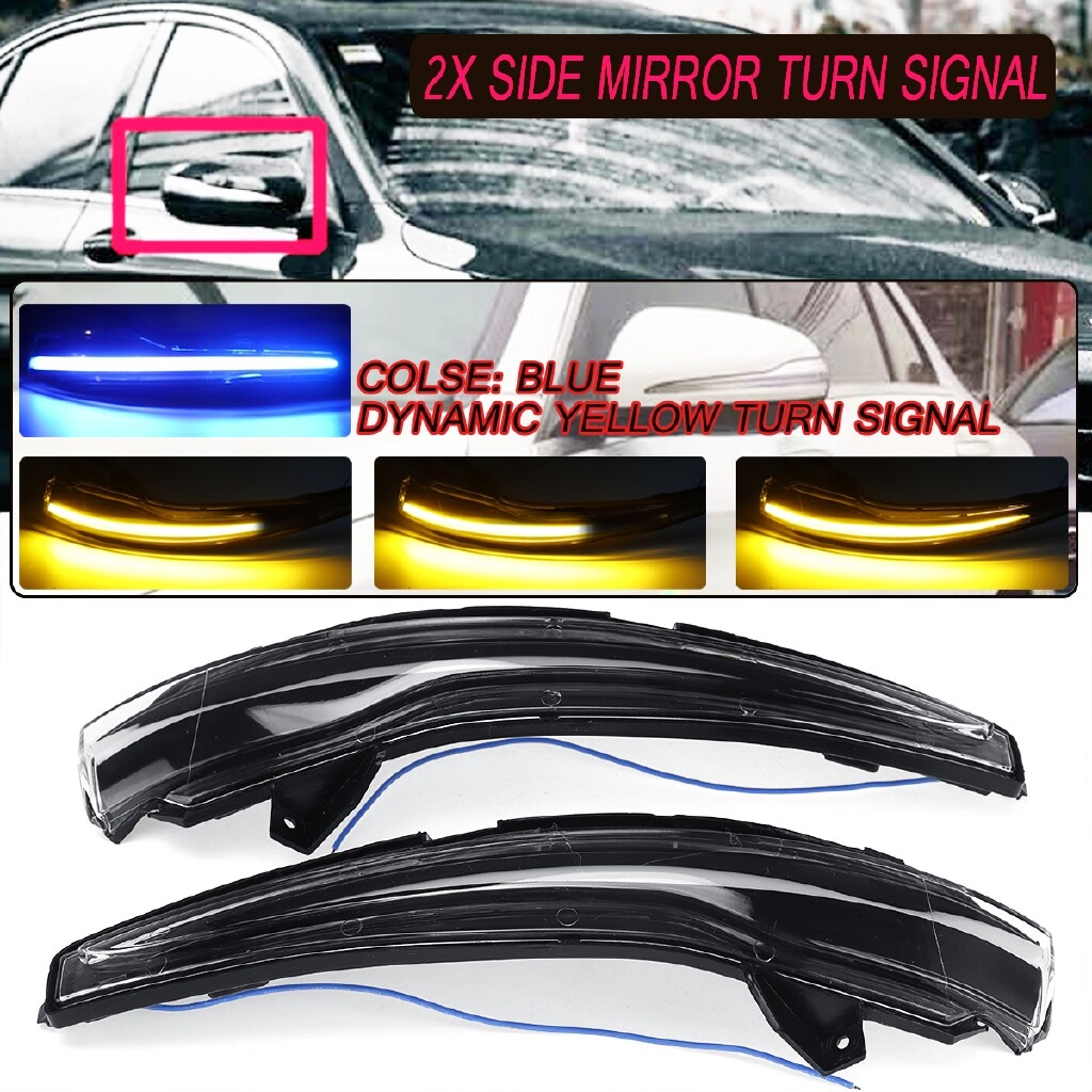 Automotive Tools & Equipment - Dynamic Side Mirror Sequential Blink Turn Signal Light For Mercedes C E S GLC UK - Car Replacement Parts