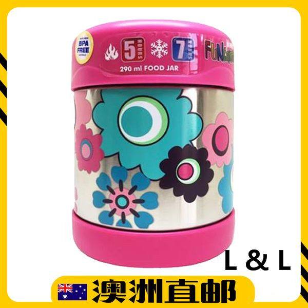 [Pre Order] Thermos 290mL FUNtainer Stainless Steel Vacuum Insulated Food Jar - Flowers (Import from Australia)