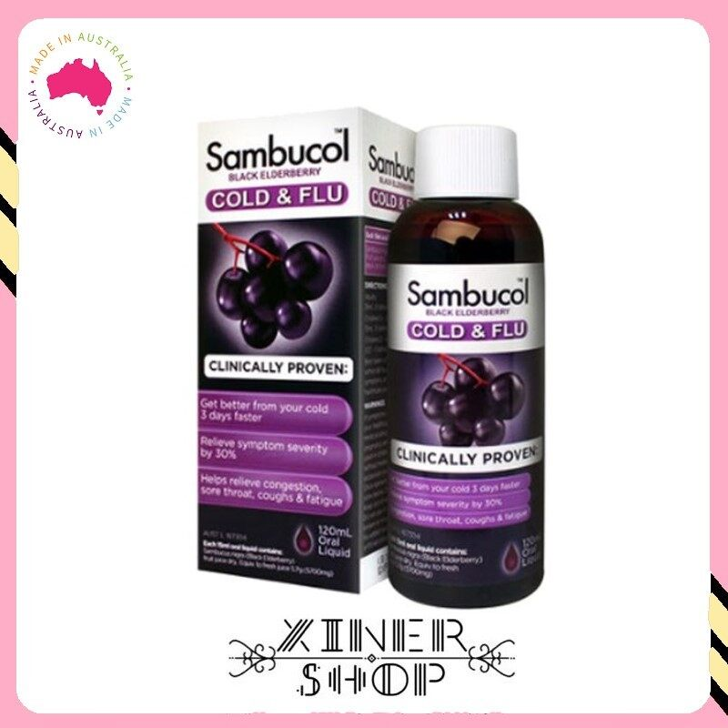 [Pre Order] Sambucol Cold & Flu Syrup For Adult ( 120ml )(Made In Australia)