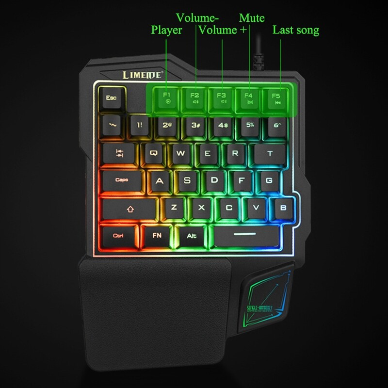 Laptops - Mechanical Gaming Keyboard USB Wired Artifact Left Hand Game Keypad - Computer & Accessories