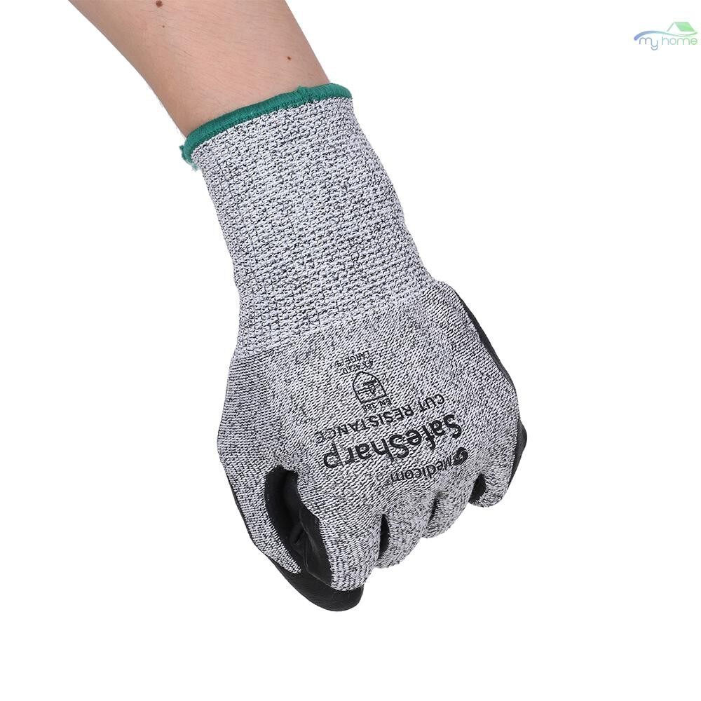 Protective Clothing & Equipment - Medicom 1153 Safety Gloves Nylon With Nitrile Coated Working Gloves Abrasion-proof Thickened Glove - BLACK & GREY-XL / BLACK & GREY-L / BLACK & GREY-M