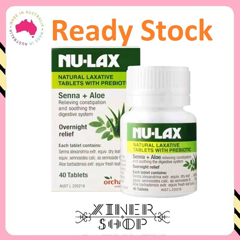 [Ready Stock Exp Date 10/2021] Nulax Natural Laxative Tablets With Prebiotic Senna + Aloe ( 40 Tablets )(Made in Australia)