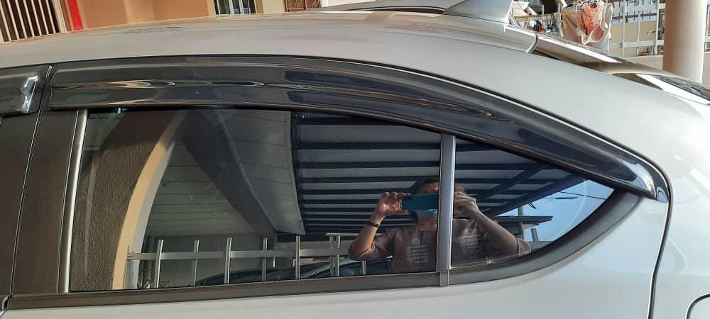 """Honda City 2020 3.5"""" Mugen Door Visor / Window Vent Visor Deflectors (4pcs/set)"""