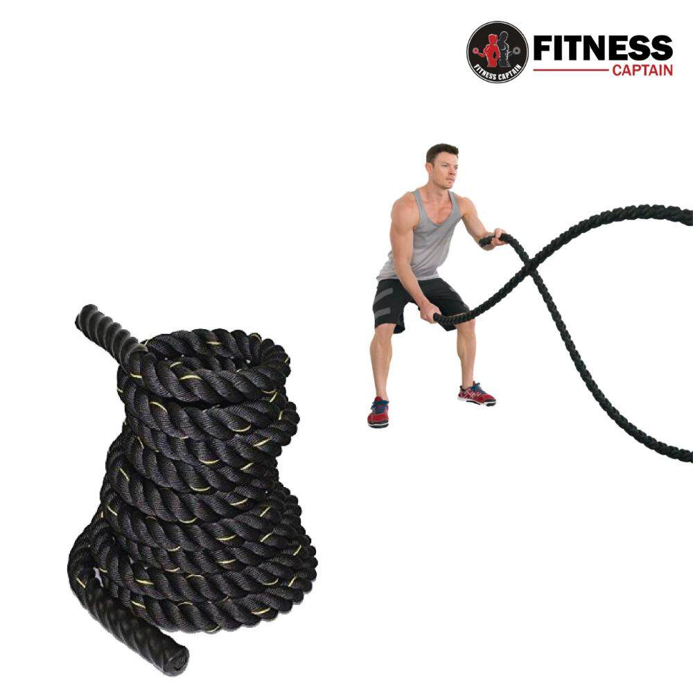 Fitness Gym 12M Length and 38mm width Poly Dacron Battle Rope Workout Training Undulation Rope Fitness Rope Exercise