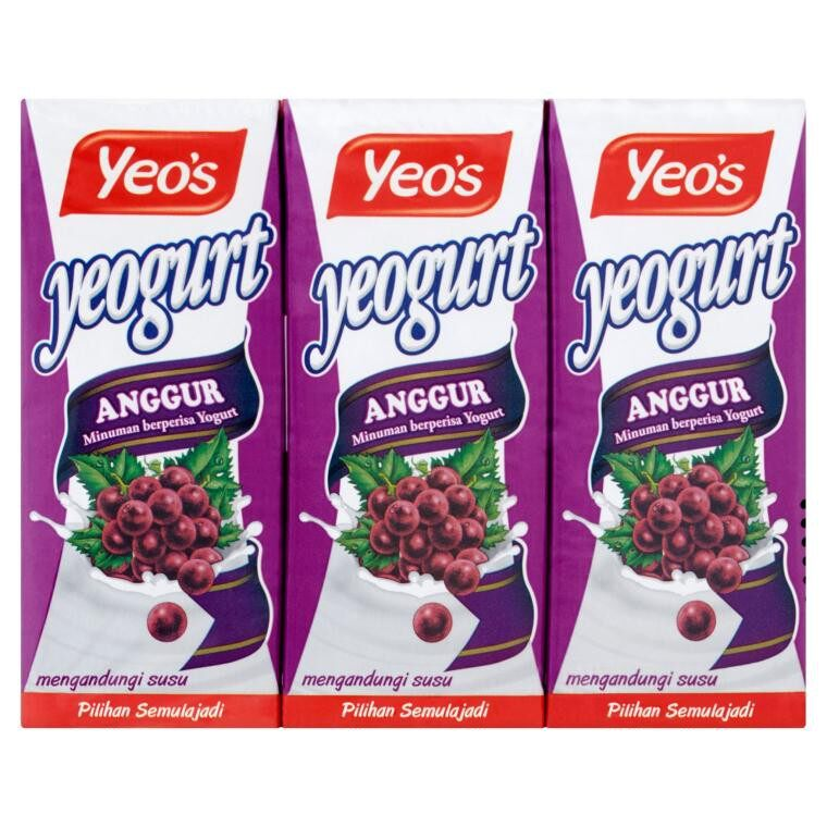 YEO'S YEOGURT DRINK GRAPE YOGURT FLAVOURED 250ML