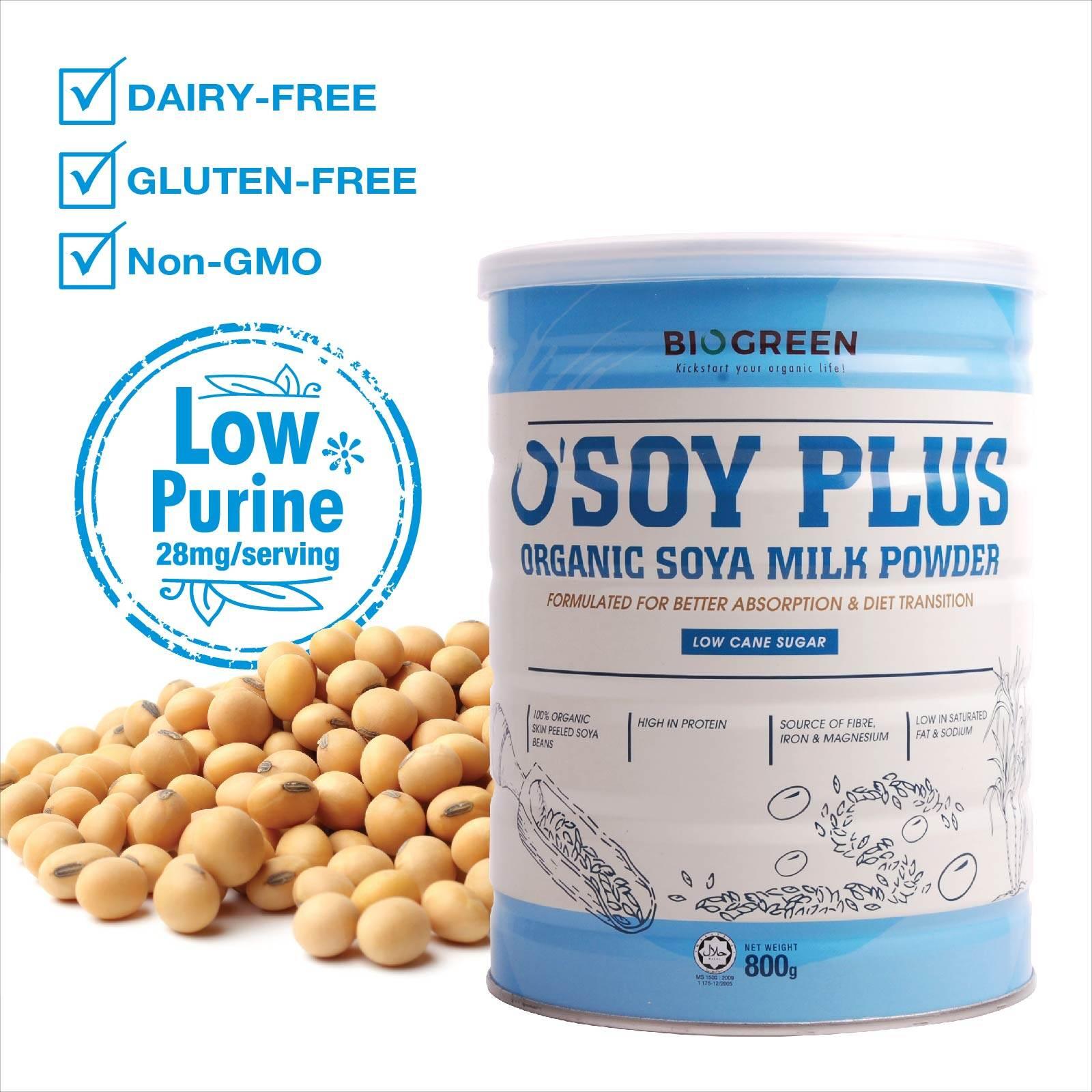 Biogreen Organic O'Soy Low Sugar Soya Milk Powder 800g