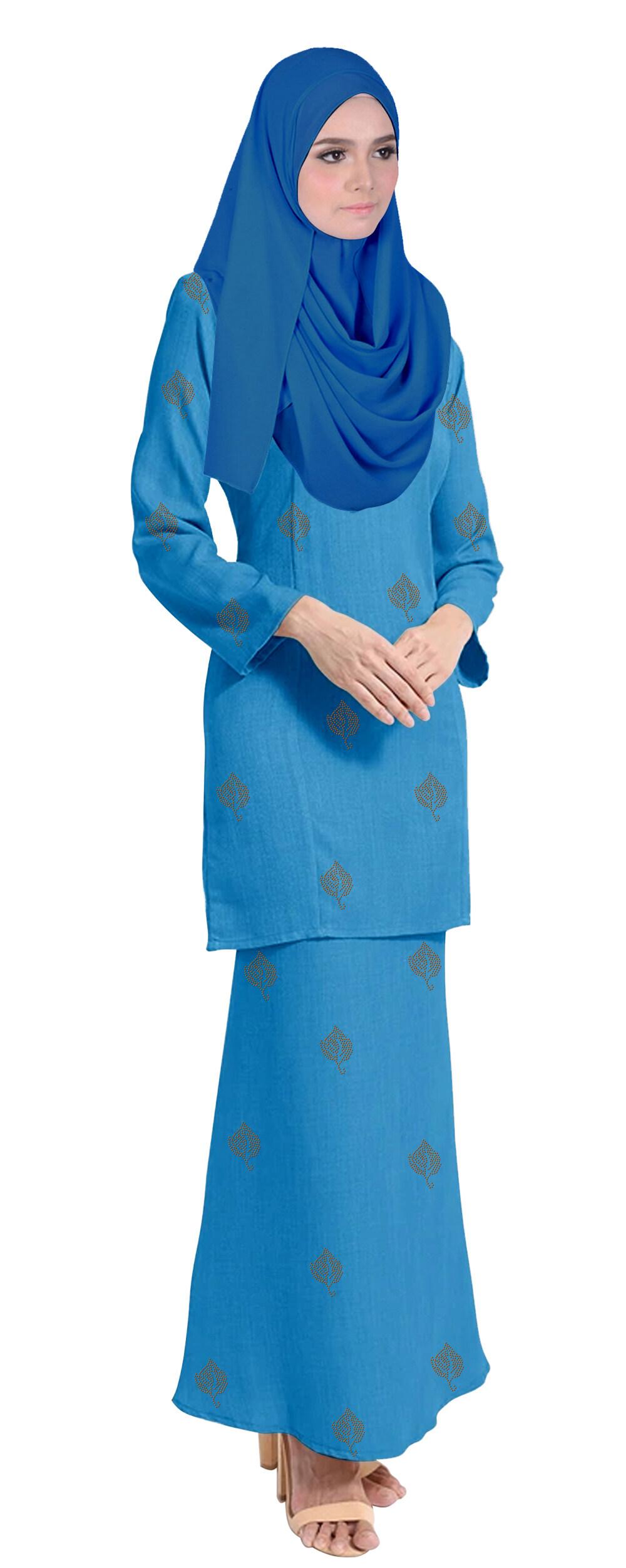 Baju Kurung Tahara For Muslimah Fashoin -Tahara-Ocean Blue