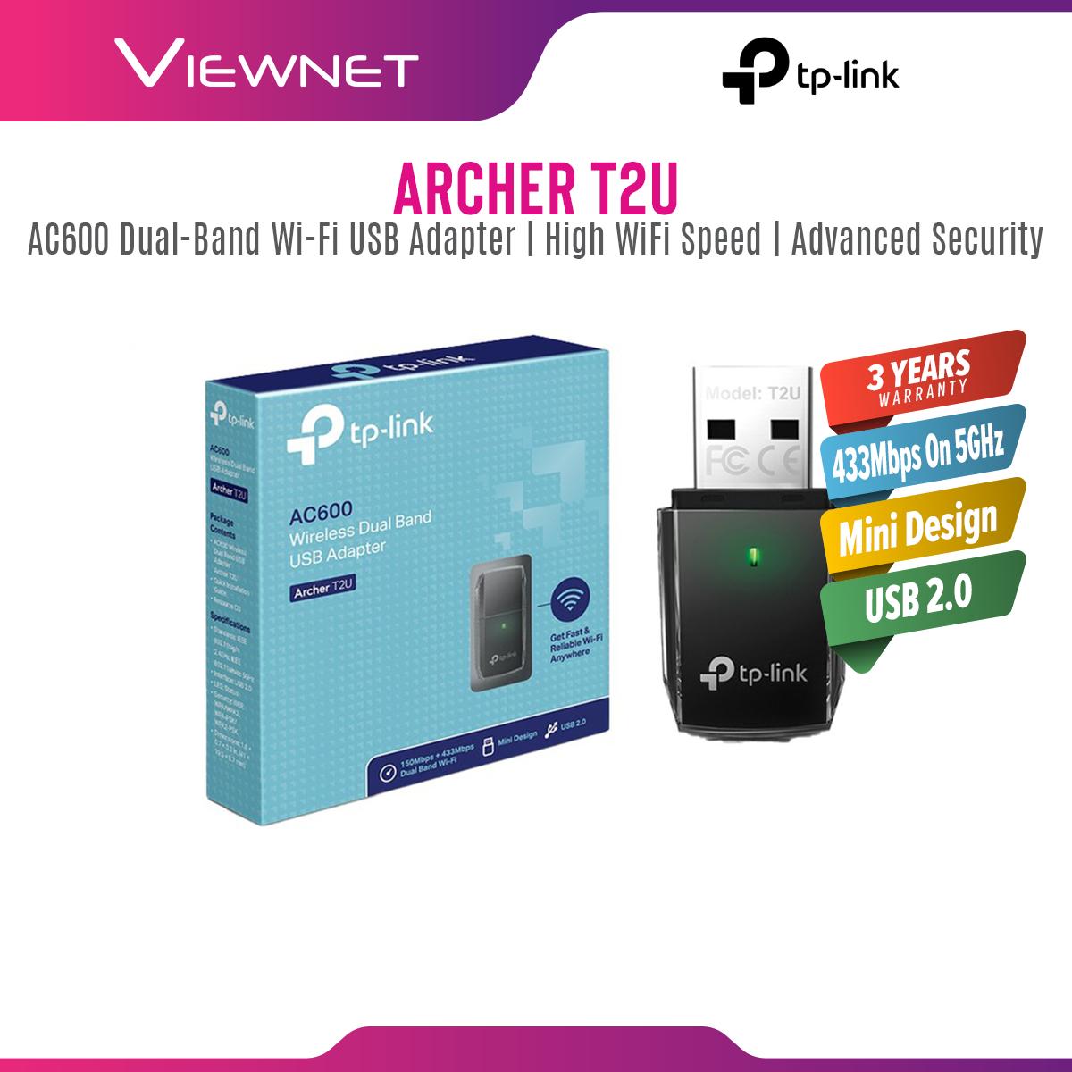 TP Link - AC600 Mini Wireless Dual Band USB WiFi Adapter, Archer T2U