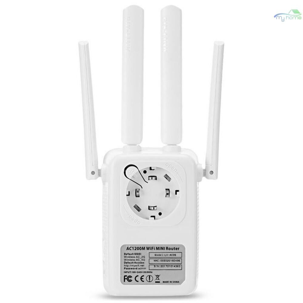 DIY Tools - 1200Mbps Dual Band 2.4/5G WIRELESS Range Extender WiFi Router 4 Antenna Double Frequency Trunk - Home Improvement