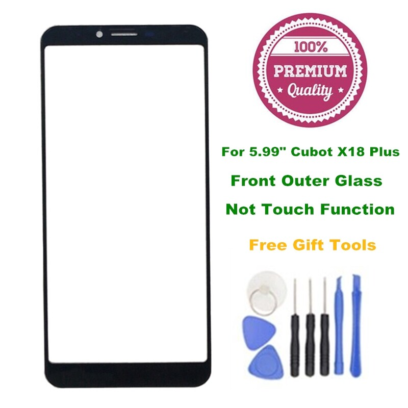 For 5.99 Cubot X18 Plus Front Outer Screen Glass Replacement with Repair Tools