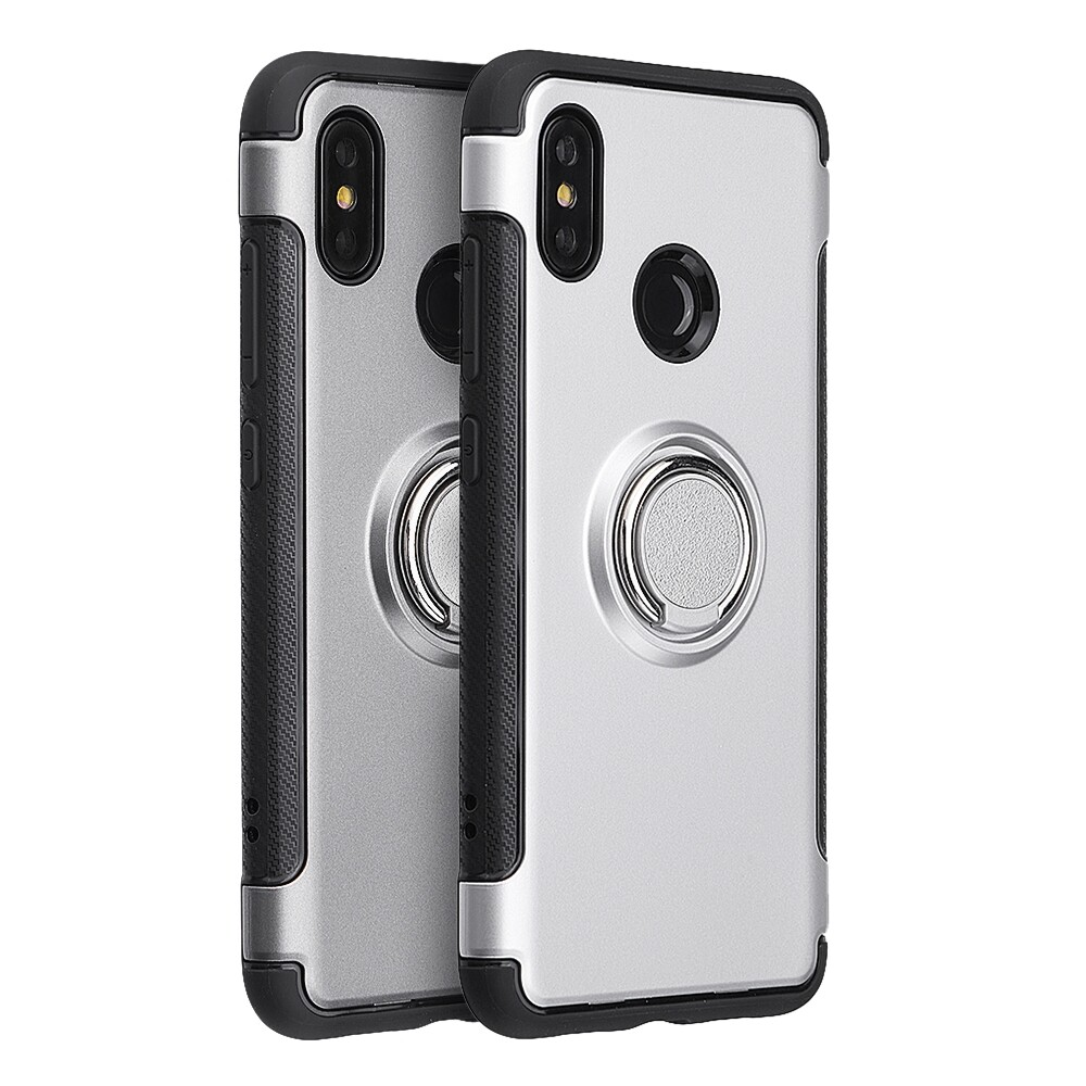 iPh Soft Cover - Ring Holder Protective Case for Xiaomi Mi 6X / Xiaomi Mi A2 - ROYAL / SILVER / RED / GREY / BLACK