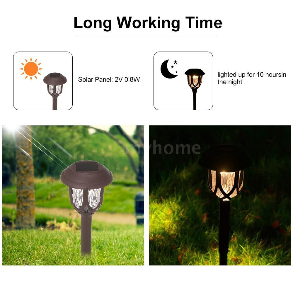 Outdoor Lighting - 10 PIECE(s) Solar Pathway Lights Solar Powered LED Garden Lights Outdoor Super Bright High Lumen Lawn