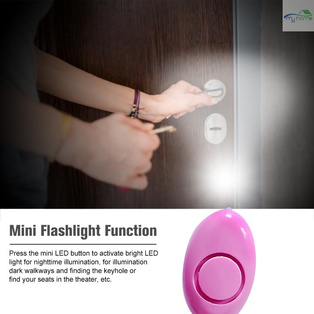Protective Clothing & Equipment - Personal Alarm 120dB Safe Sound Emergency Self-Defense Security Alarm Keychain LED Flashlight for - BLUE / BLACK / PINK / WHITE