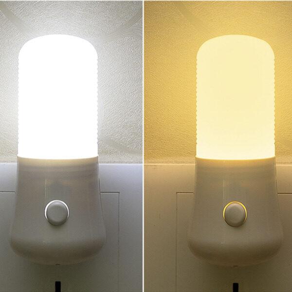 Đèn Ngủ Đầu Giường Cắm 3W Kiểu Mỹ Đèn Ổ Cắm Trên Tường Trang Trí Nhà Phòng Trẻ Em, Đèn Ổ Cắm Phòng Ngủ Cho Bé Đèn Chiếu Sáng Đèn Công Tắc LED Đèn Ngủ