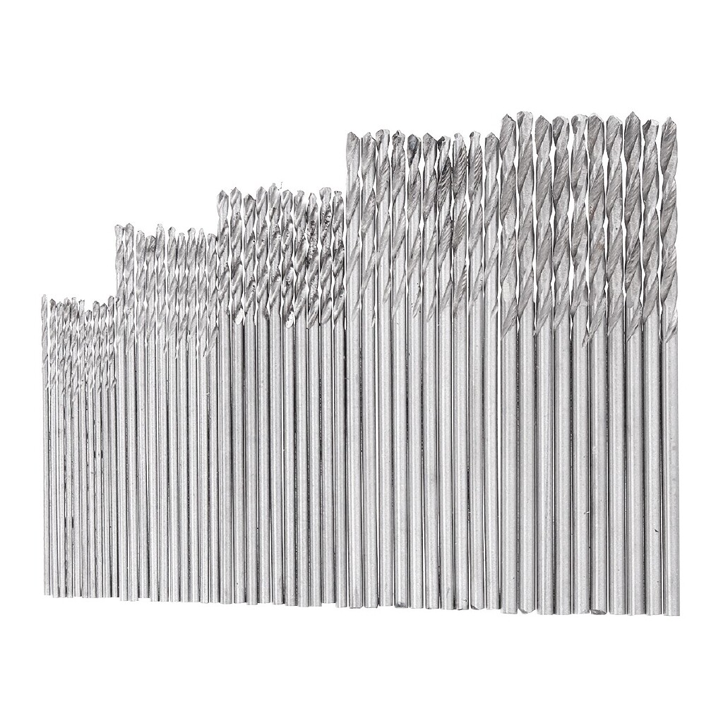 Power Tools - 50 PIECE(s) Precision Pin Vise Model Hand Drill SET Micro Twist Drill Bits Rotary SET - Home Improvement