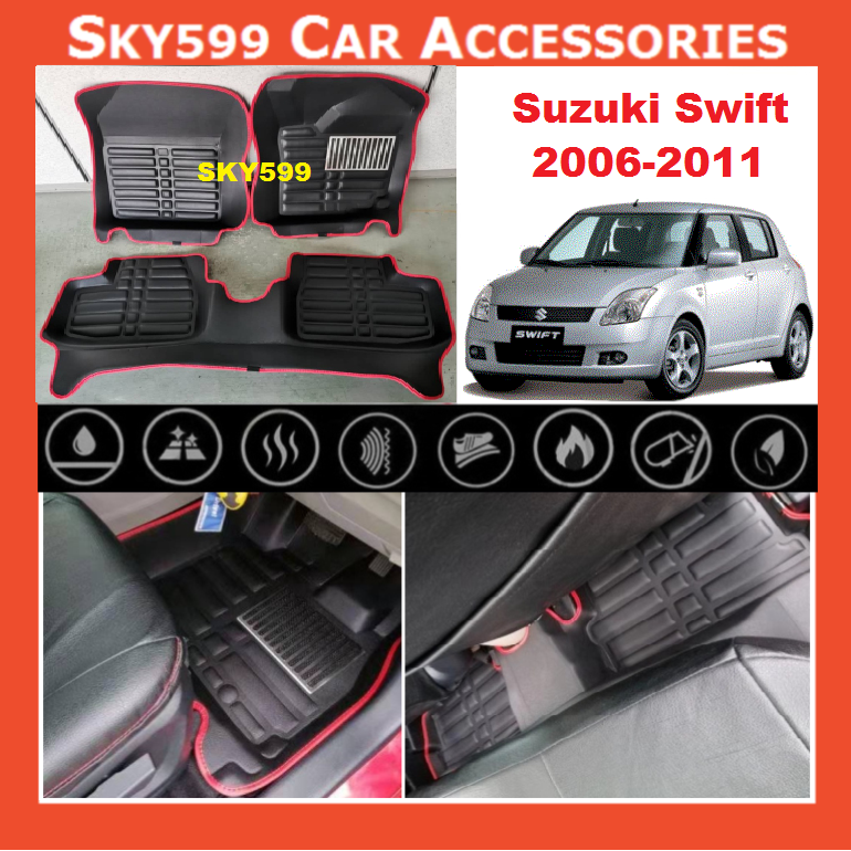 Suzuki Swift 2006-2011 5D Car Floor Mat/Carpet