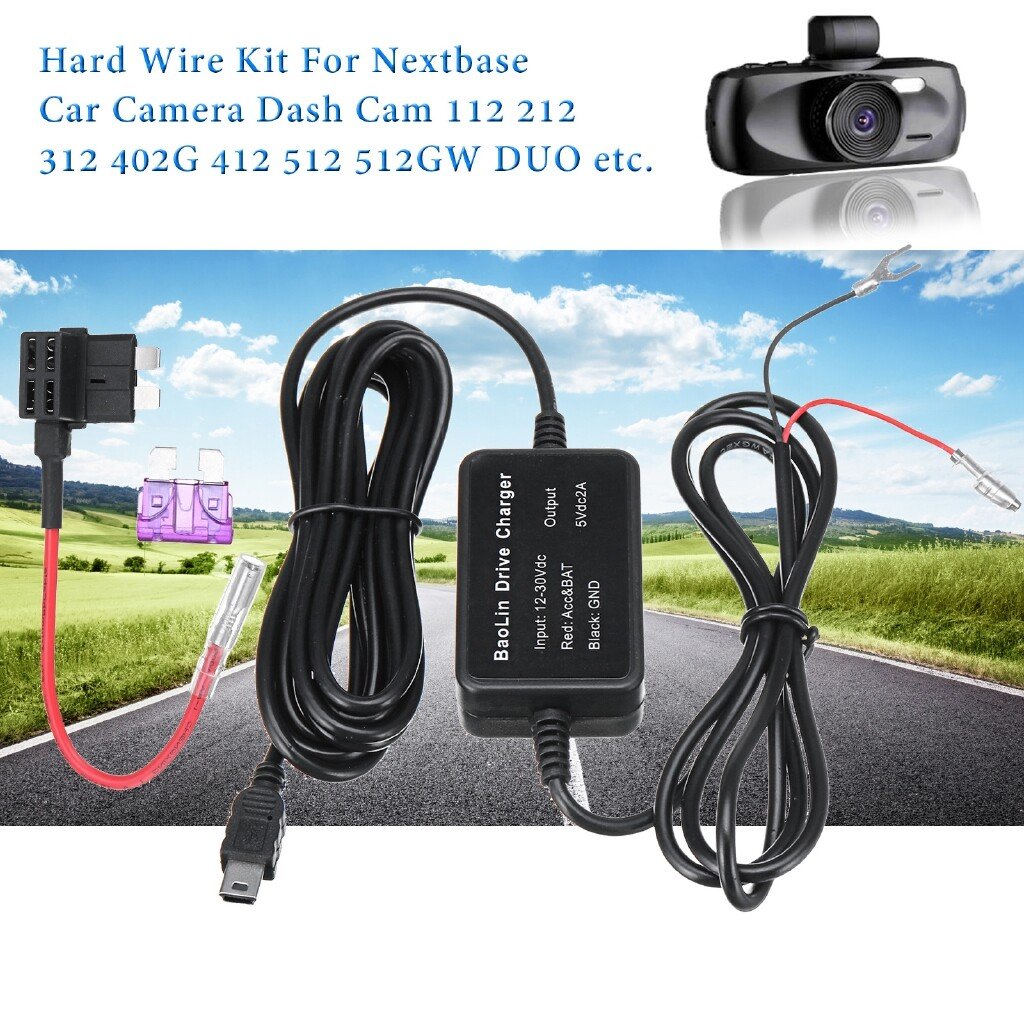 Adapters & Converters - Hard Wire Kit For Nextbase Car Dash Cam Camera 112 212 312 402G 412 512 512GW - Network Components