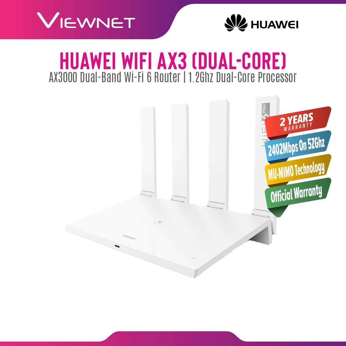 [READY STOCK-FAST SHIPMENT] Huawei WiFi AX3 Dual-Core/Quad-Core (A.K.A AX3 PRO) AX3000 WiFi 6+ Plus AX Router Support Huawei HiLink Mesh WiFi