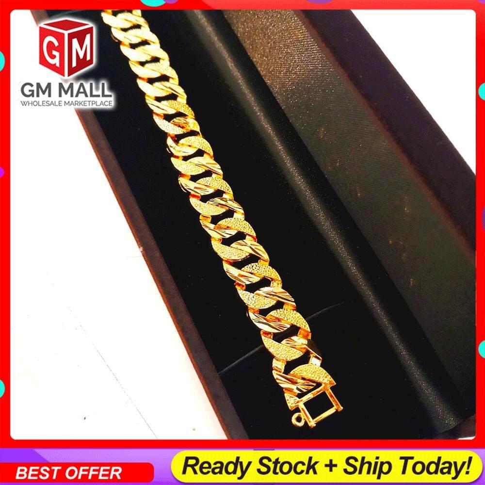 Emas Korea Jewellery - Gelang Tangan Bulat Nipis Gold Plated (EK-2013-6)