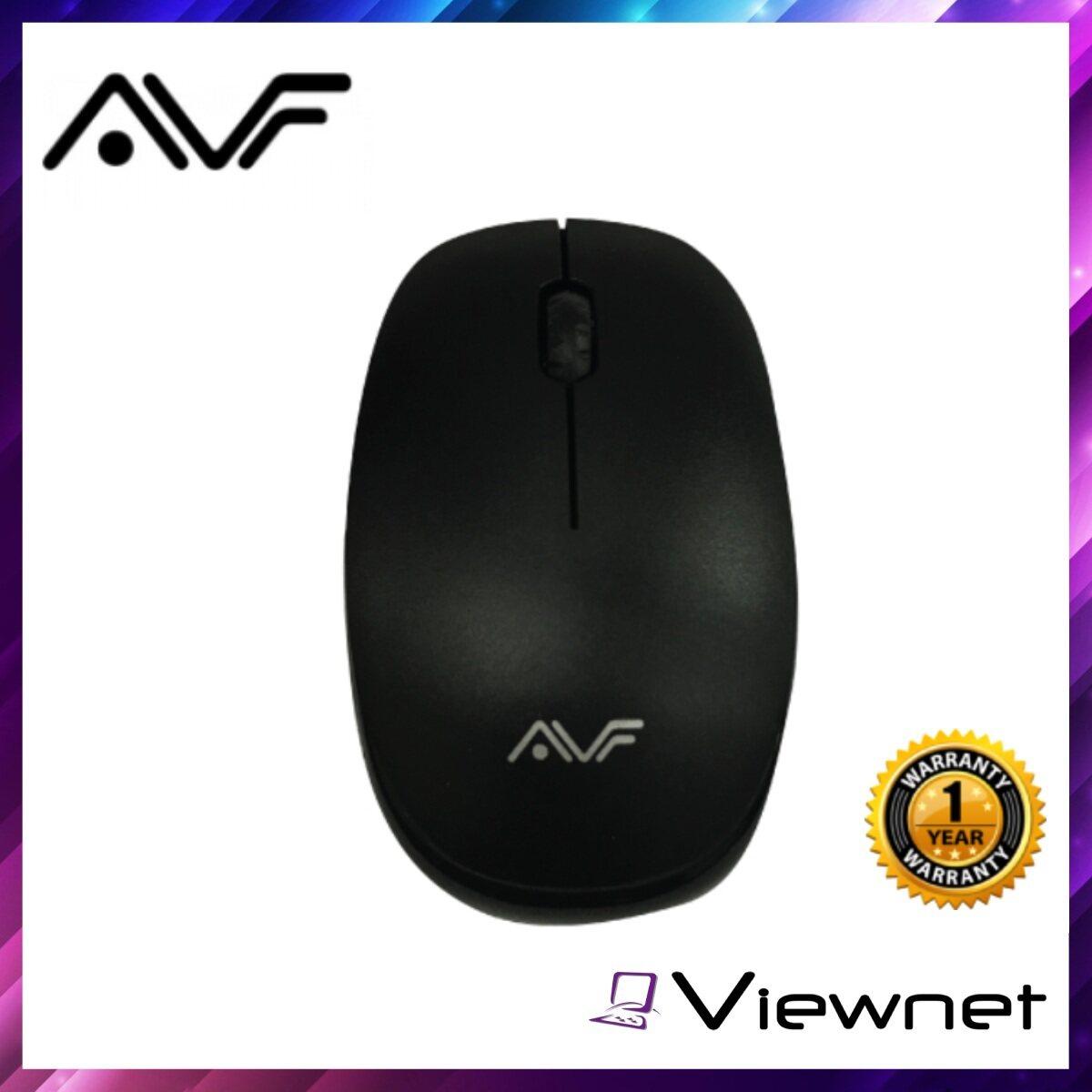 AVF AM-4G Wireless Mouse (AM-4G), Black, 2.4G Wireless Mouse, 1600 Dpi
