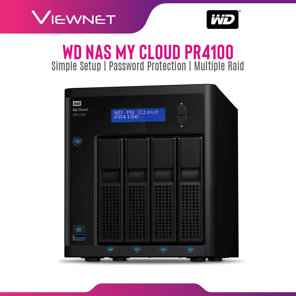 WD My Cloud PR4100 Network Attached Storage, NAS, 0TB, 8TB, 16TB, 24TB, 32TB, 40TB, USB 3.0