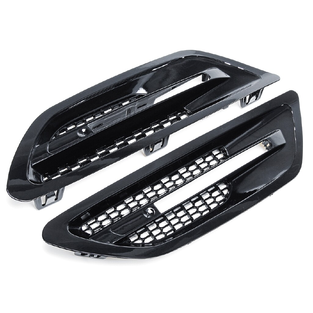 Car Accessories - 2 X Car Side Air Flow Vent Fender Grilles For BMW F10/F11/M5 Sedan 2011-2016 - Automotive