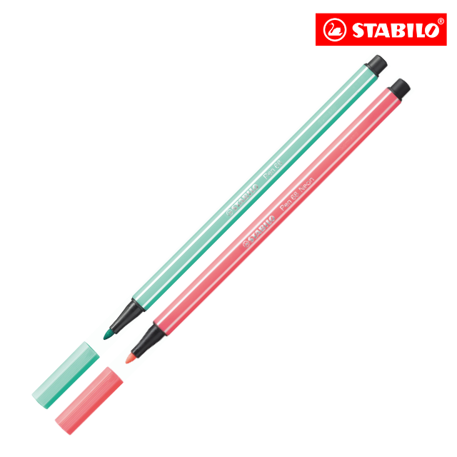 STABILO Pen 68 Fibre Tip Pens (Set of 2)