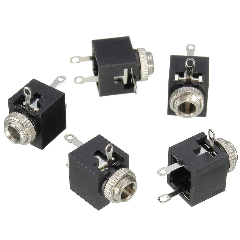 Mobile Audio Earbuds - 5 PIECE(s) 3.5mm Earphone PCB Panel Mount Stereo Jack Female Socket Connector 3 Pin