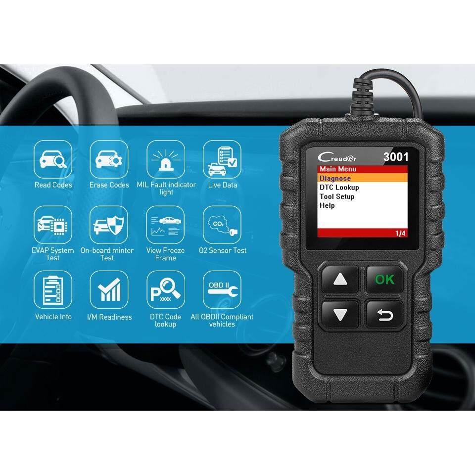 LAUNCH X431 CR3001 OBD2 Scanner Support Full OBD II/EOBD Launch Creader 3001 Auto Scanner Diagnostic