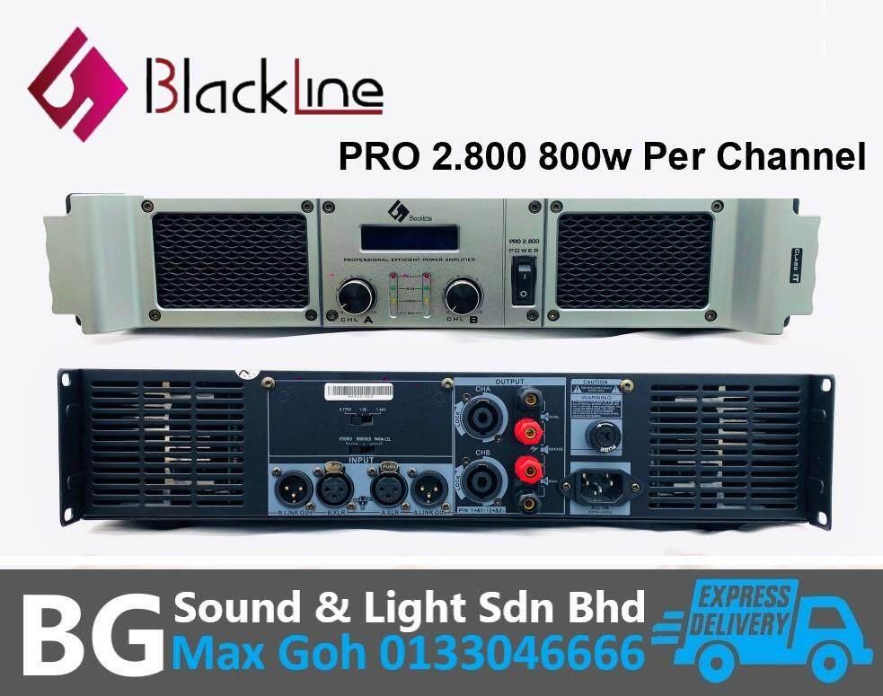Blackline PRO 2.800 2 Channel 800w 8 Ohms Per Channel Power Amplifier