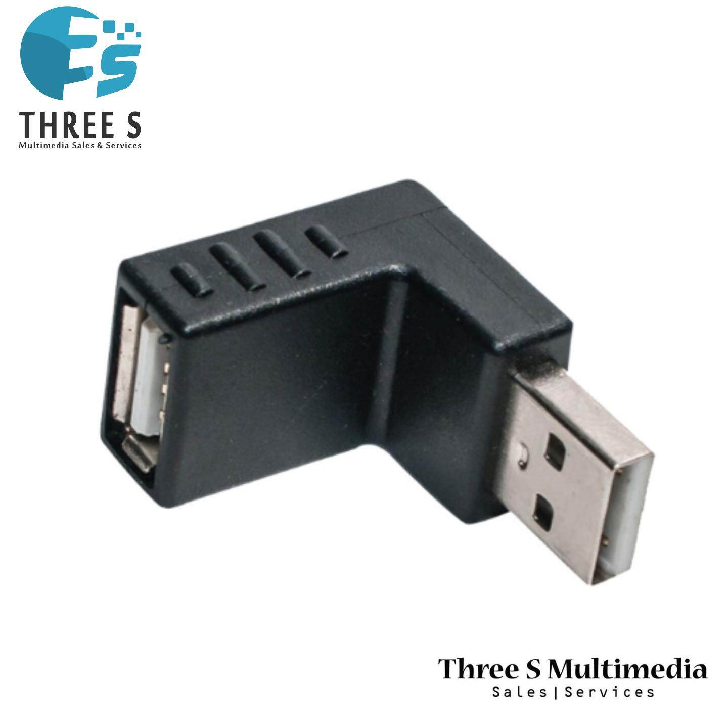USB A FEMALE TO A MALE STANDARD RIGHT ANGLE ADAPTER M/F