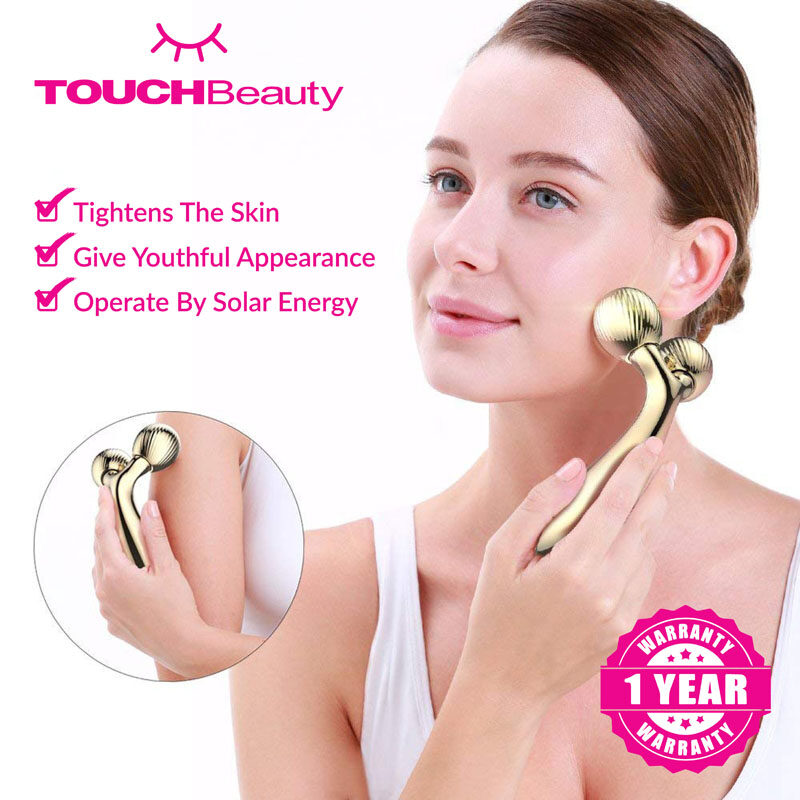 TOUCHBeauty Face Massager TB-1613A / Roller V-shaped Lifting Device/face skin care/70 DEGREE V-SHAPED LIFTING/PAIN-FREE AND EFFECTIVE USE/can achieve the effect of face slimming face lifting skin tightening relaxing muscle