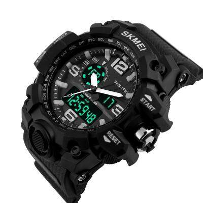 Men Digital LED 30M Waterproof Military Army Alarm Chrono Wrist Watches (BLACK)