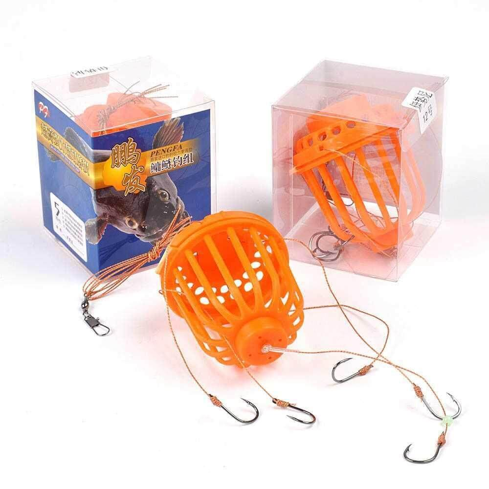 Silver Carp Fishing Sea Monster with Lead Sinker Carbon Steel Strong Explosion Hooks Fishing Tackle Set (multi)