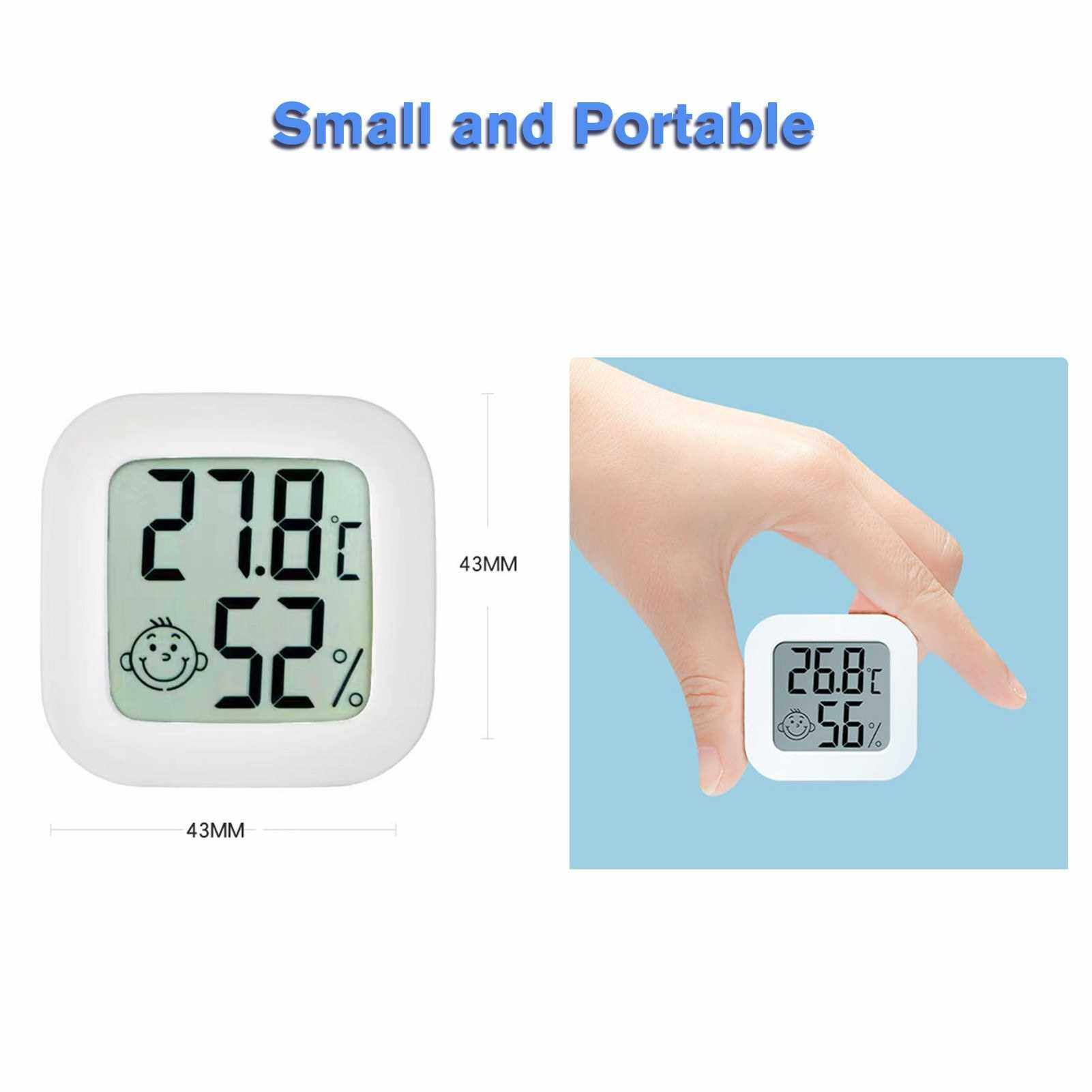 Digital Hygrometer Thermometer Indoor Humidity Meter Mini Room Thermometer with Humidity and Temperature Monitor Accurate Humidity Gauge for Home Greenhouse Office School (Standard)