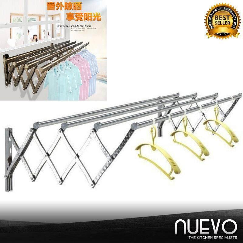 Nuevo 250cm Outdoor Telescopic Drying Rack Balcony Drying Rack Enhanced Aluminum Alloy Drying Rack