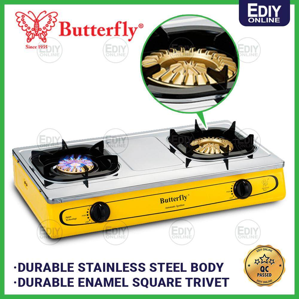 Butterfly T-923B T923B BGC-923 2 Burner Gas Stove Cooker Dapur Gas _1701005