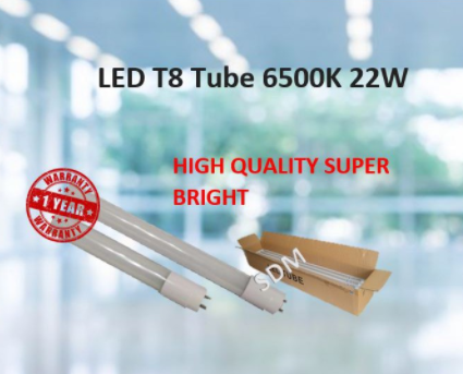 LED T8 TUBE 18W/22W/30W 1200MM 4ft 6500K Lampu LED / DAYLIGHT Lampu LED FLUORESCENT TUBE [ Ready Stock ]