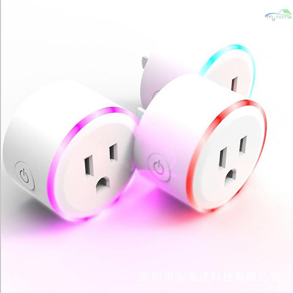Plugs & Adapters - Home Intelligent WIFI Plug APP Remote Control Switch Socket Timer WIRELESS Night Light Voice Control - Home Improvement