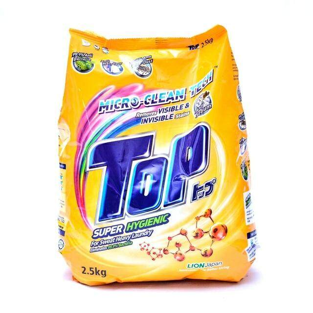 TOP POWDER DETERGENT LAUNDRY SUPER HYGIENIC 2.3KG READY STOCK