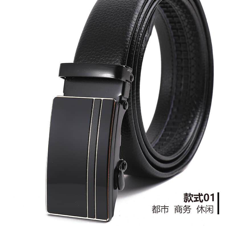 (NEW) [M'sia Warehouse Direct] 2019 Korean Series Mens Automatic Buckle Belt Line Design Series Series Perfect Gift (come with box) Luxury Classy Style Leather Belt Suitable For Formal Wear Jeans Casual Wear Belt Long Lasting Tali Pinggan Kulit Halal